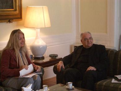 ヴァスーラ、駐日ローマ教皇大使アルベルト・ボッターリ・デ・カステッロ大司教閣下を表敬訪問